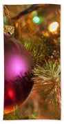 Christmas Ball Ornament Purple 1 Bath Towel