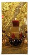 Christmas Candles Bath Towel