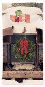Christmas Car Card Hand Towel