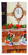 Christmas Card Hand Towel