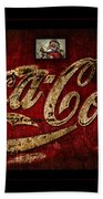 Christmas Coca Cola 1881 Santa Bath Towel