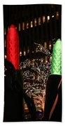 Christmas Festive In New York City Bath Towel