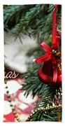 Christmas Greetings Bath Towel