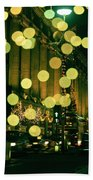 Christmas Lights In Oxford Streeet Bath Towel