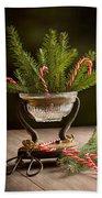 Christmas Pine Bath Towel by Amanda Elwell