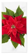 Christmas Poinsettia  Bath Towel