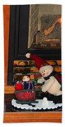 Christmas - Snowmen Collection- Fireplace Bath Towel