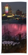 Christmas Spirit At Niagara Falls Bath Towel