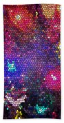 Christmas Stained Glass  Bath Towel