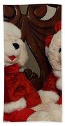 Christmas Time Bears Bath Towel