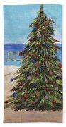 Christmas Tree At The Beach Bath Towel