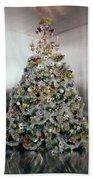 Christmas Tree Decorated By Gloria Vanderbilt Hand Towel