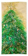 Christmas Tree Gold By Jrr Bath Towel