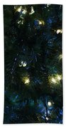 Christmas Tree Lights Bath Towel
