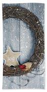 Christmas Wreath Bath Towel by Amanda Elwell
