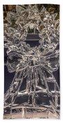 Christmas Wreath Ice Sculpture Bath Towel