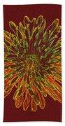 Chrysanthemum Fire Bath Towel