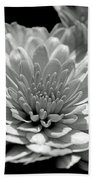 Chrysanthemum In Light And Shadow Bath Towel
