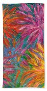 Chrysanthemums Like Fireworks Bath Towel