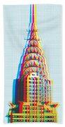 Chrysler Pop Art Hand Towel by Gary Grayson