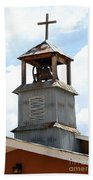 Church Bell Tower In Truchas In New Mexico Bath Towel