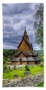 Church In Norway Bath Towel
