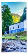 Church In The Mountains By The River Bath Towel