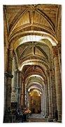 Church Interior Dordogne Region France Bath Towel