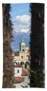 Church Madonna Del Sasso Bath Towel