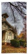 Church Of Autumn Bath Towel
