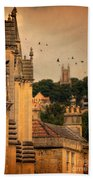 Churches In Town Hand Towel