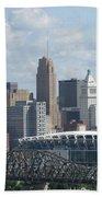 Cincinnati Cityscape Bath Towel