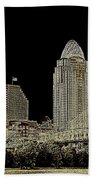 The Queen City Cincinnati Ohio Bath Towel