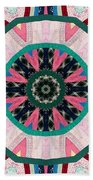 Circular Patchwork Art Bath Towel