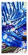 Citric Acid Microcrystals Abstract Color Art Bath Towel