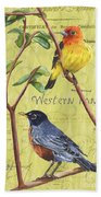 Citron Songbirds 2 Bath Towel