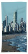 City At The Waterfront, Surfers Hand Towel