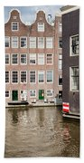 City Of Amsterdam Canal Houses Bath Towel