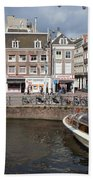 City Of Amsterdam Urban Scenery Bath Towel