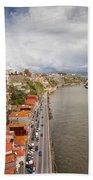 City Of Porto In Portugal Bath Towel