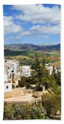 City Of Ronda In Spain Bath Towel