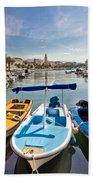 City Of Split Colorful Harbor View Bath Towel