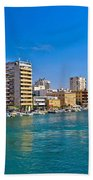 City Of Zadar Waterfront And Harbor Bath Towel