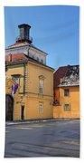 City Of Zagreb Historic Upper Town Bath Towel