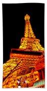 City - Vegas - Paris - Eiffel Tower Restaurant Bath Towel