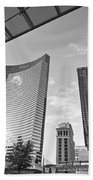 Citycenter - View Of The Vdara Hotel And Spa Located In Citycenter In Las Vegas  Bath Towel