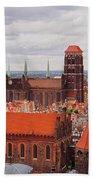 Cityscape Of Gdansk Bath Towel