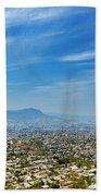 Cityscape Of Tuxtla Chiapas Bath Towel