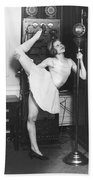 Clair Luce Exercising On Radio Bath Towel