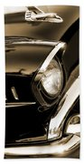 Classic '57 Chevy Bel Air In Sepia  Bath Towel